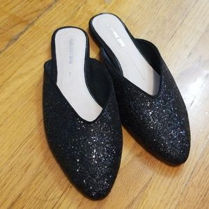 Black slip on shoes never worn